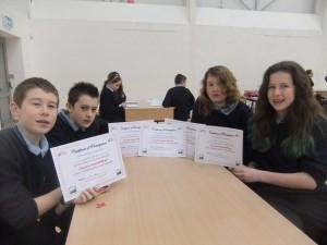 Well Done JSCP students in Kilmuckridge quiz
