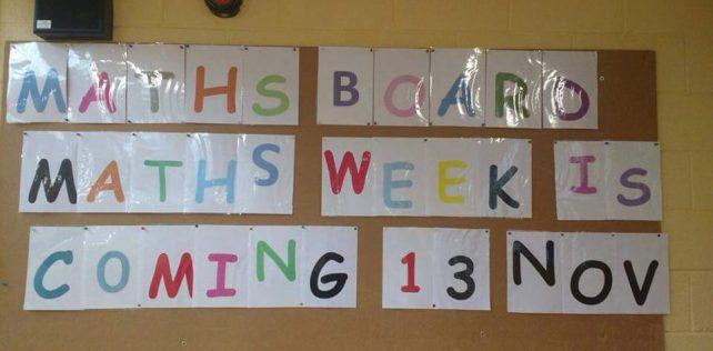 Maths Week is here! Nov 13th!