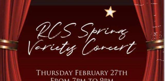 RCS Spring Variety Concert Thursday 27th 7pm